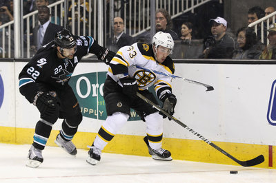 Public Skate Second Period: Bruins 1 Sharks 1