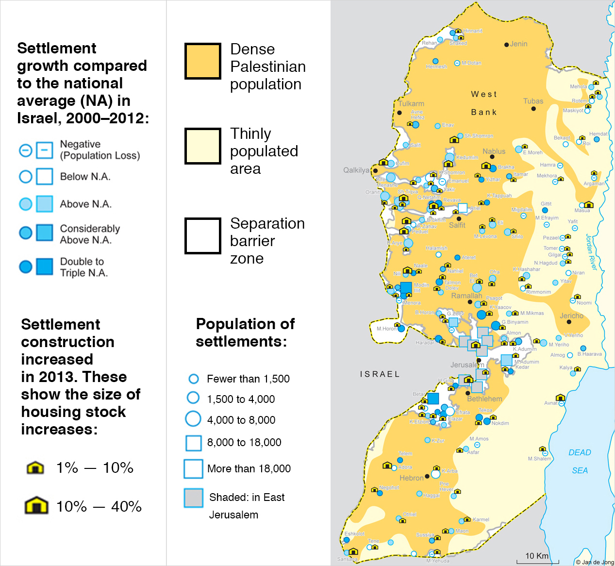 Israeli settlements in the Palestinian West Bank