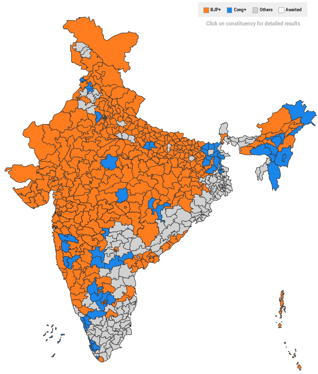India Map 2014 India's election, in one stunning map   Vox