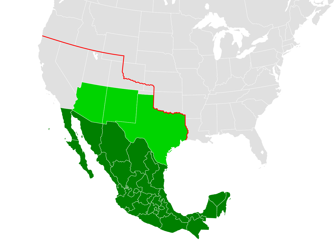 Maps That Explain World War I Voxcom - Map of us land originally held by mexico