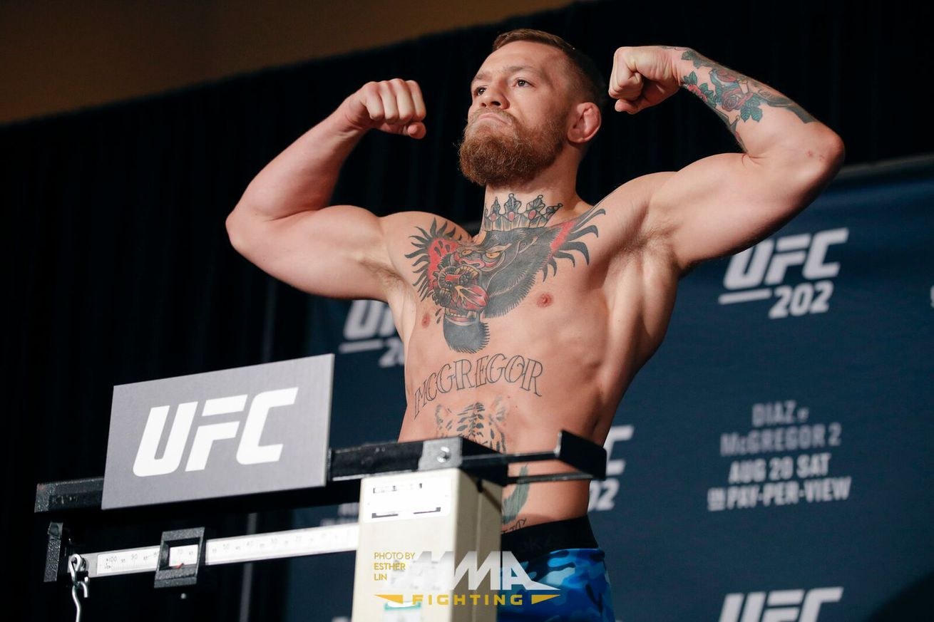 Side by side pic: Cardio minded Conor McGregor then and now following UFC 202 weigh ins