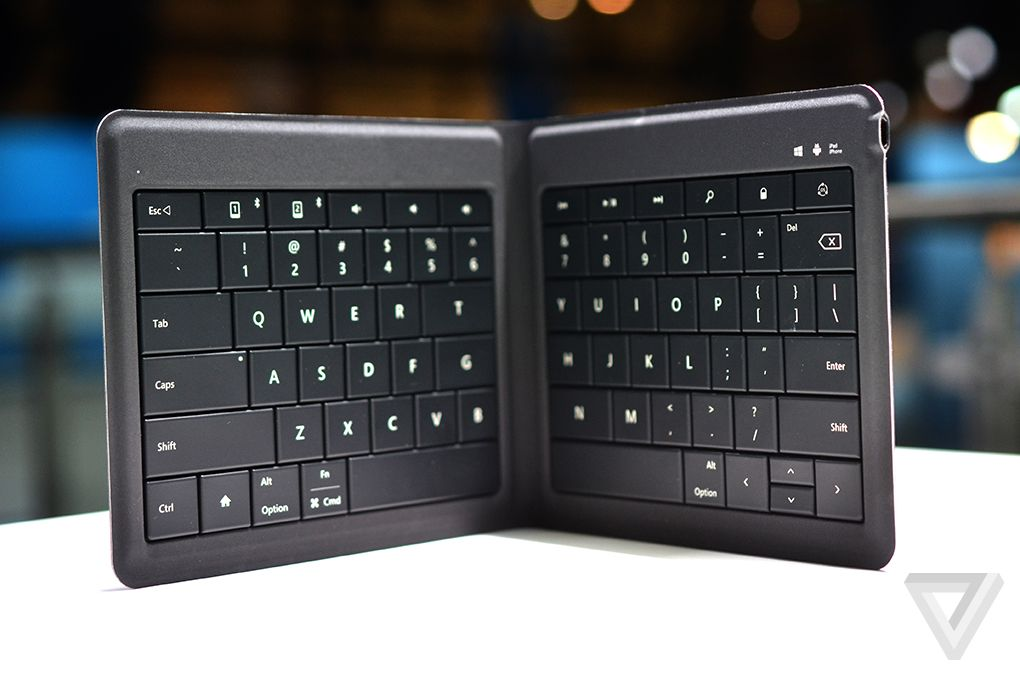 Microsoft's new foldable keyboard is designed for any mobile ...