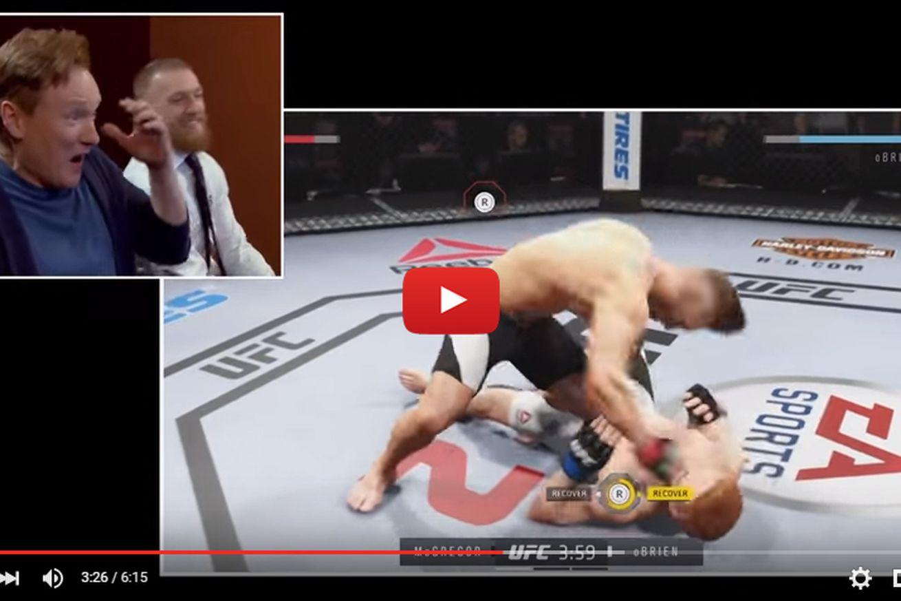 community news, Video: Conor McGregor knocks out Conon OBrien ... in new EA Sports UFC 2 video game