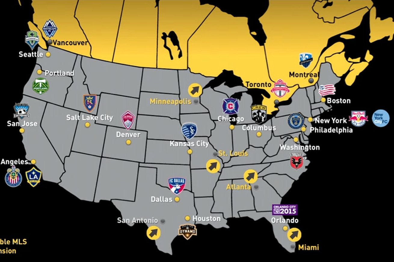 five cities - for SBNation.com MLS expansion candidiate names