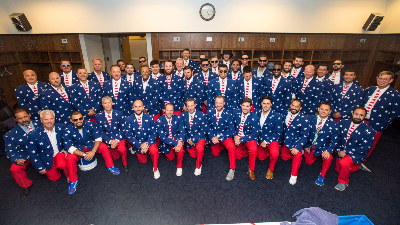 The Texas Rangers wore the most patriotic stars and stripes suits to celebrate the Fourth of July