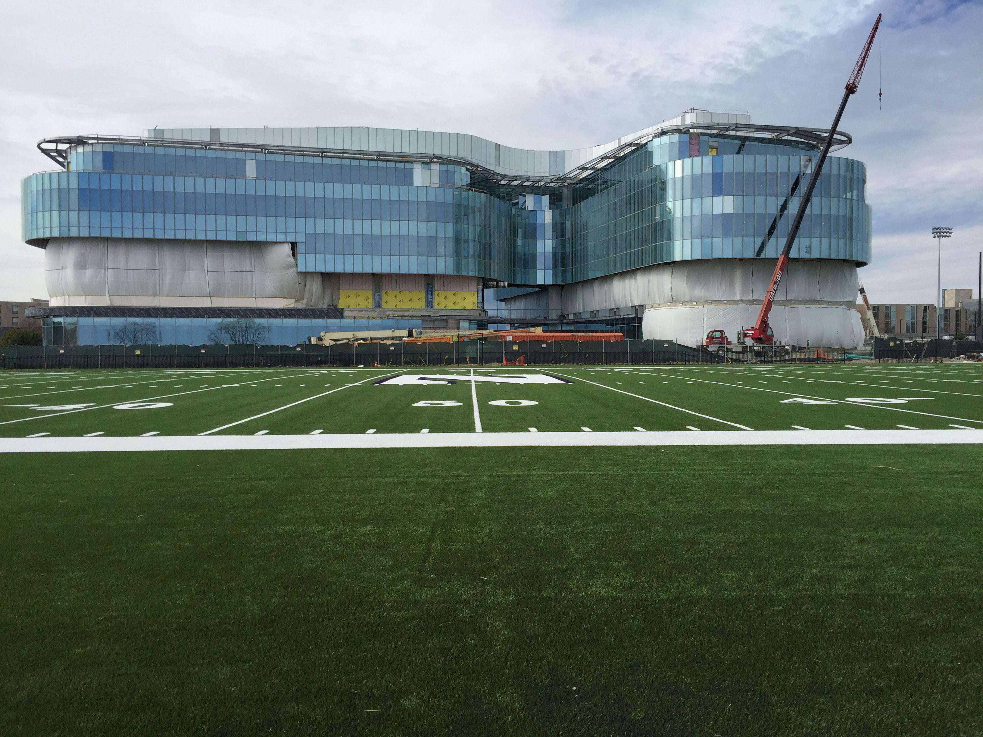 photos northwestern football lakefront practice field