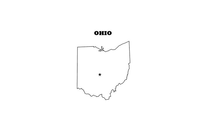 Ohio Outline Jpg The State of Ohio Outline