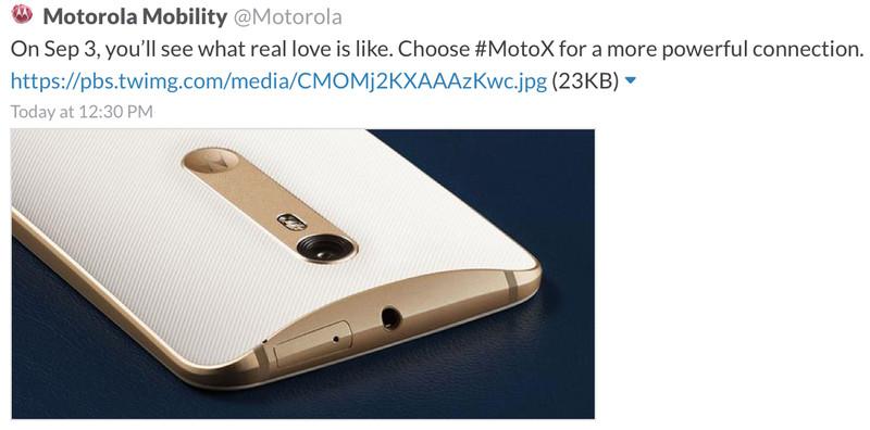 Moto X twete
