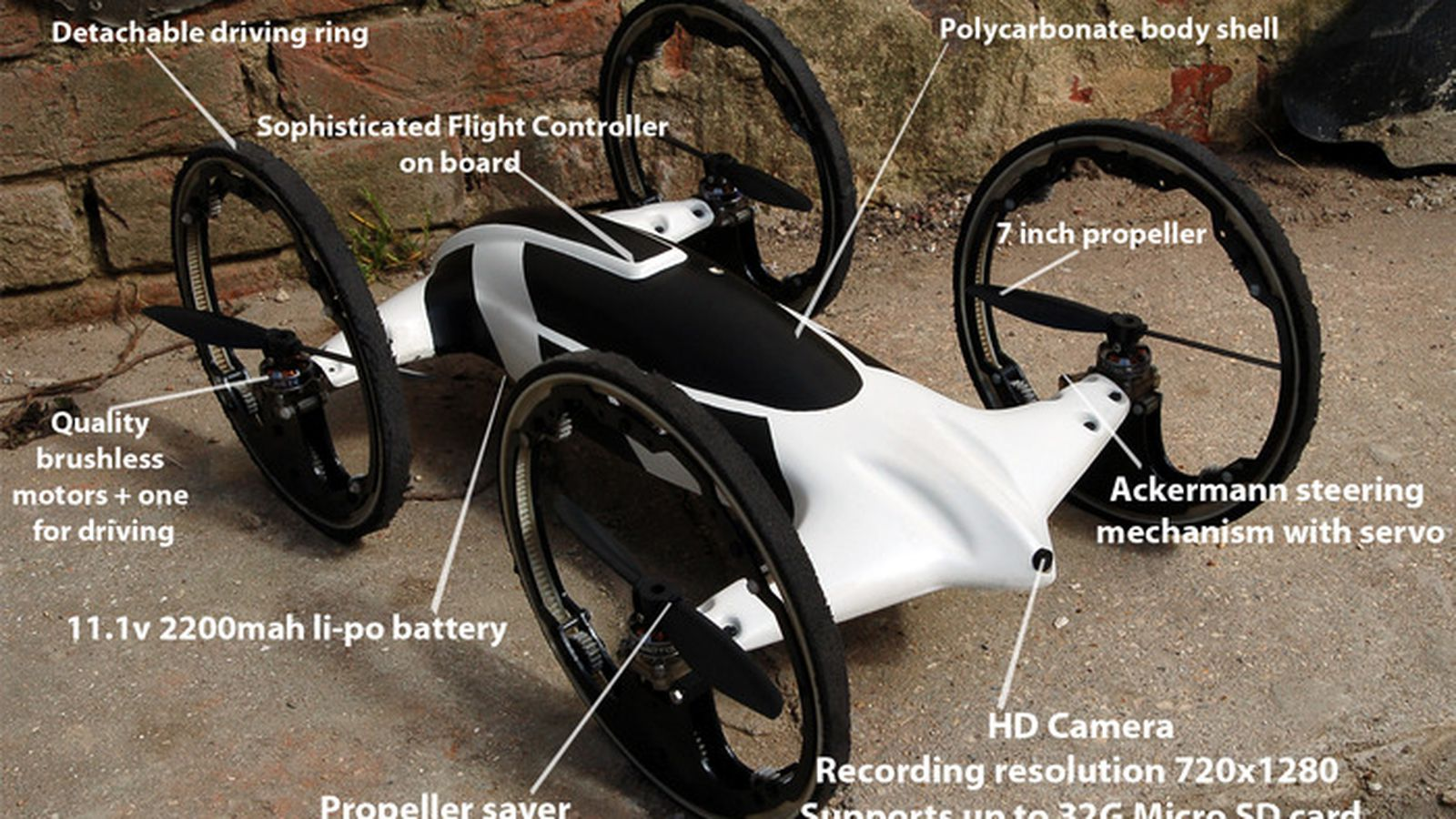 B Flying Car Drone Drive and fly seamless...