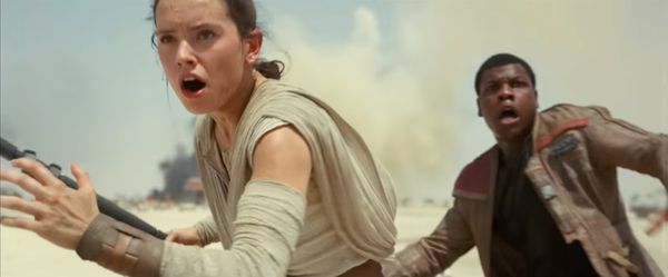 A screenshot from the Episode VII trailer.