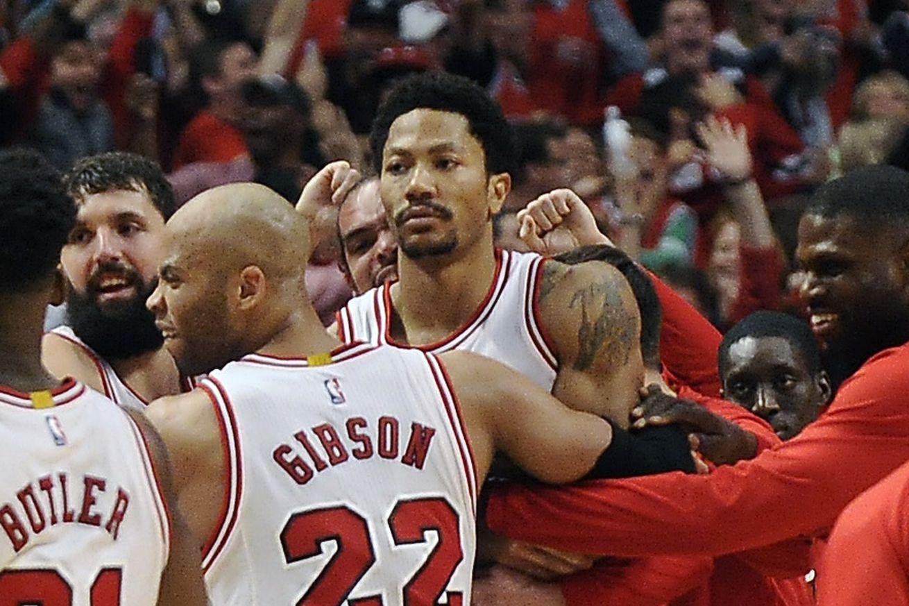 Derrick Rose Game Winner Derrick Rose hits ridi...