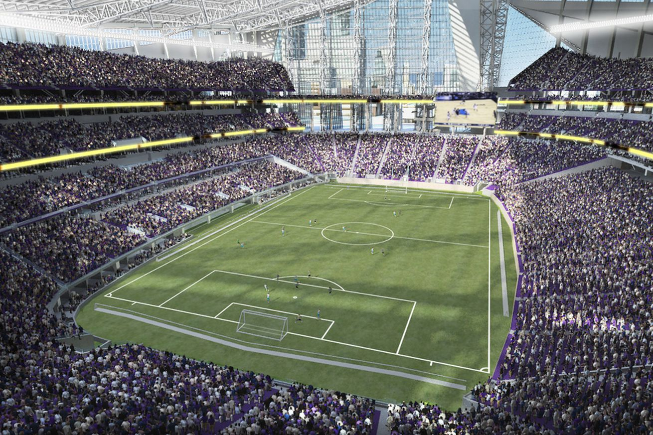 Exterior: U.S. Bank Stadium To Open With Soccer Match