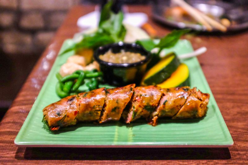 Chiang Mai sausage with herbs