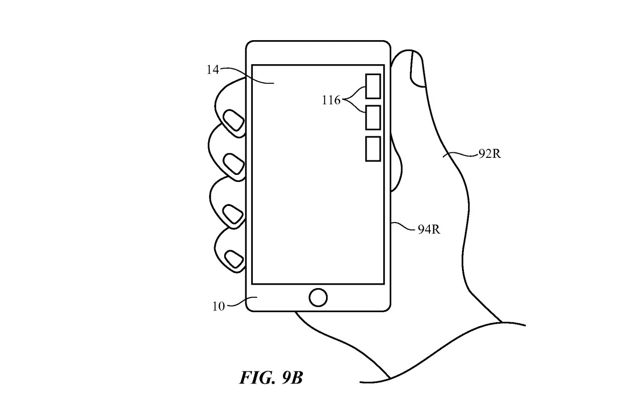 Electronic devices with hand detection circuitry