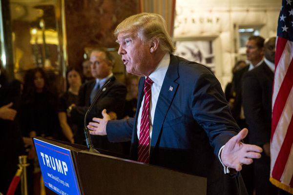 Trump trumpets Trump tax plan.