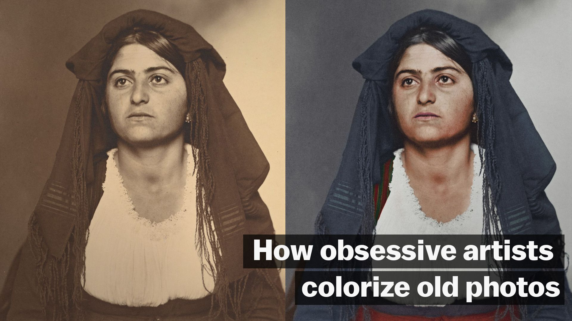 How obsessive artists colorize old photos vox