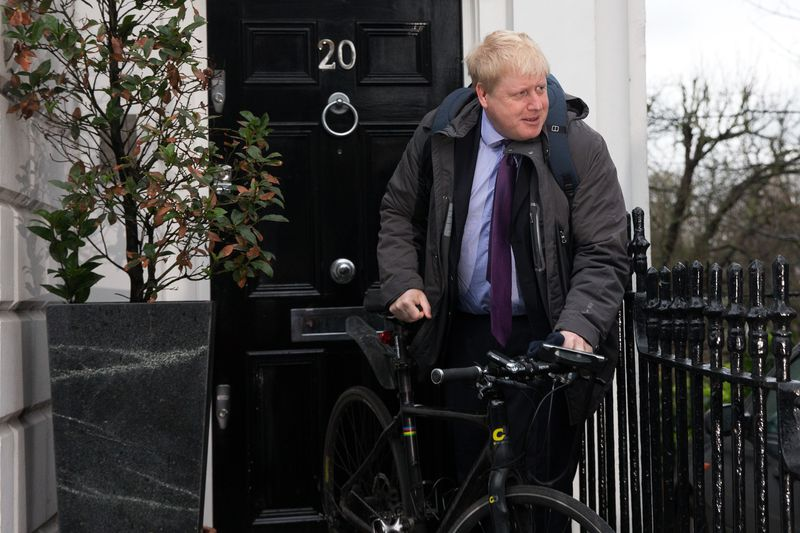 Boris Johnson Departs His London Home Morning After Announcing Support For Brexit