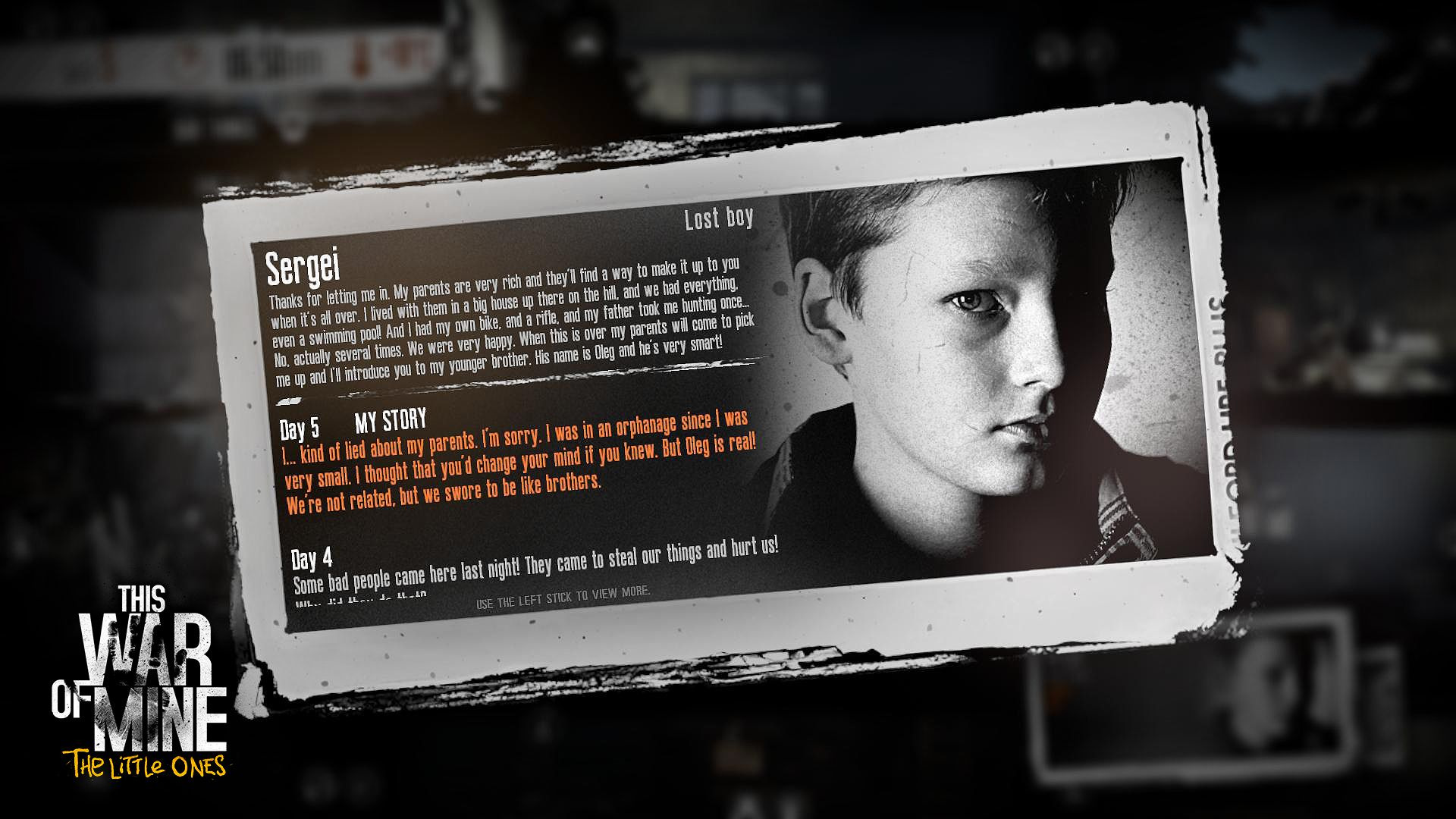 this war of mine how to teach child