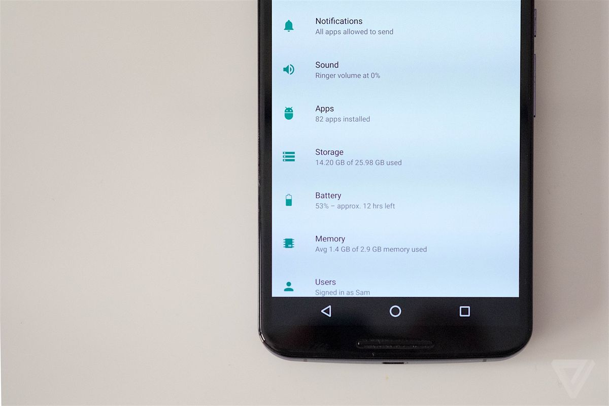 Android N nexus 6