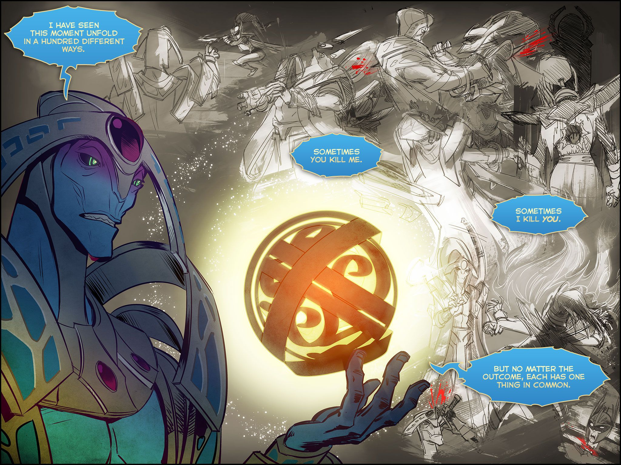 Dota Characters Not in Dota 2 Dota 2 Oracle Comic Screen 2