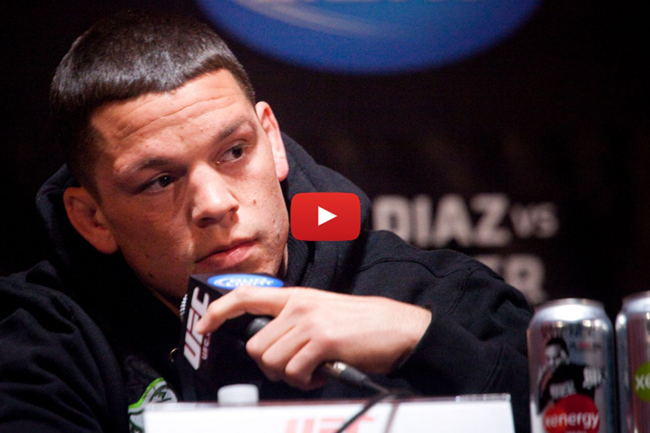 Live! Nate Diaz breaks silence on Conor McGregor rematch, bad meeting with Dana White (Video)