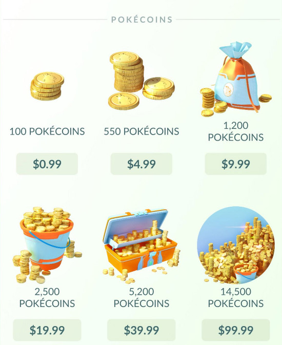 PokémonGo help page