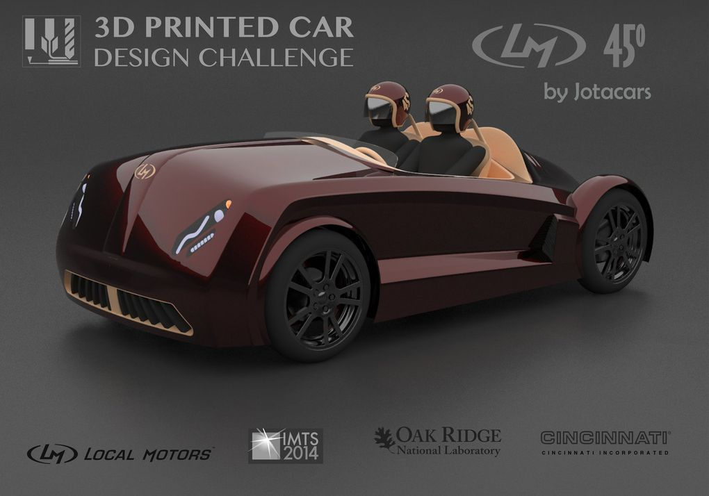 a 3d printed car is  ing that stretches the boundaries