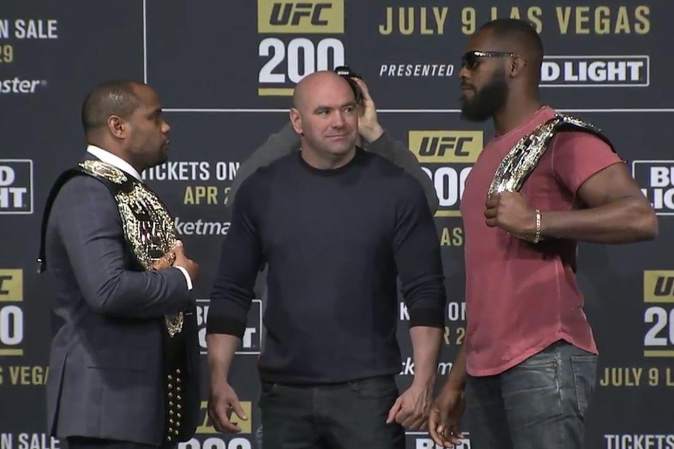 community news, Jon Jones vs Daniel Cormier staredown pic, video from UFC 200 press conference in New York