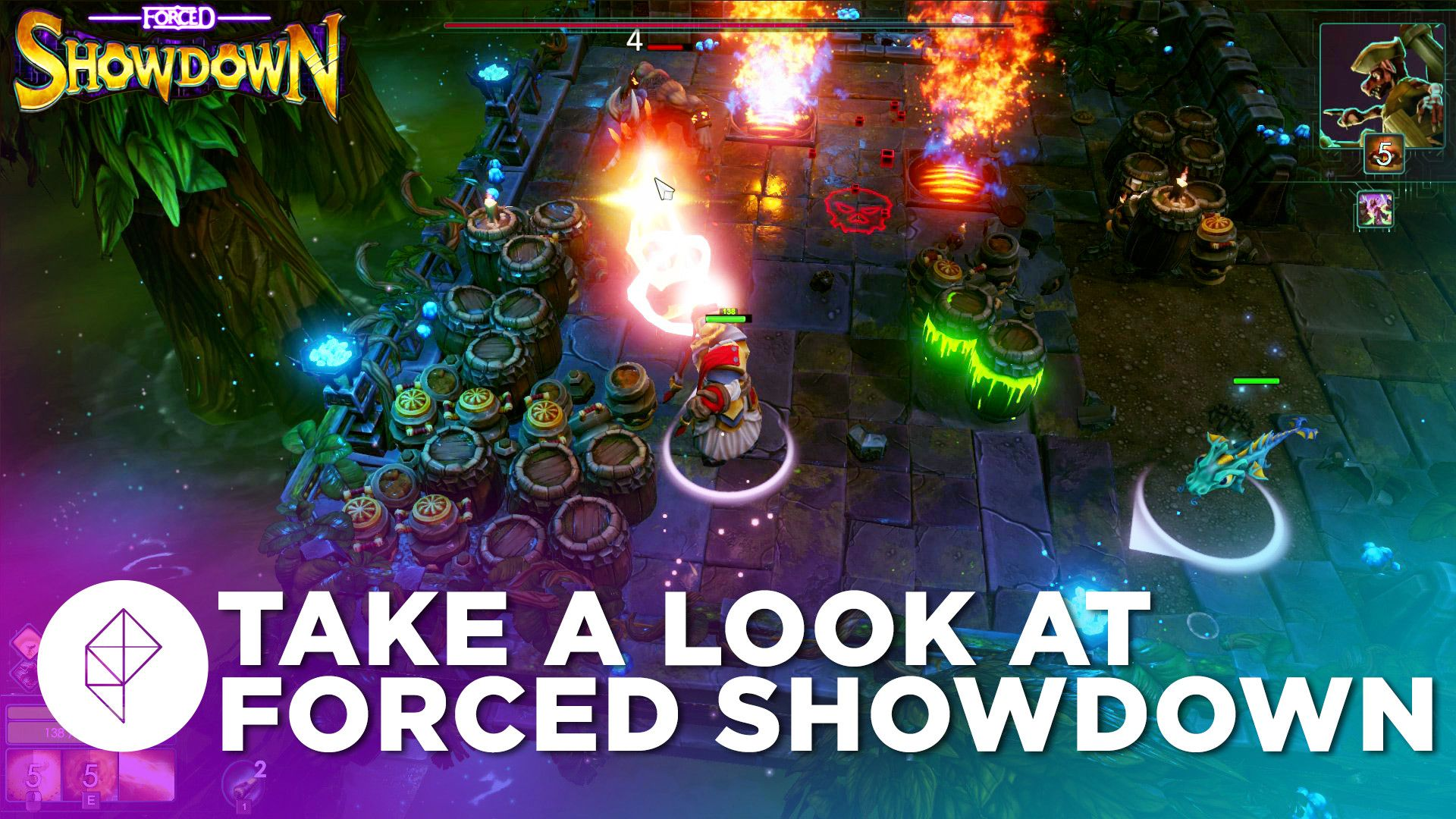 Take a look at twin-stick roguelike shooter Forced Showdown