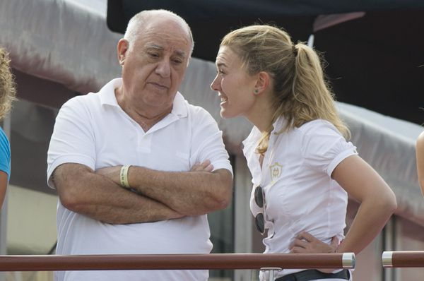 Ortega, with his daughter Marta Ortega Perez.