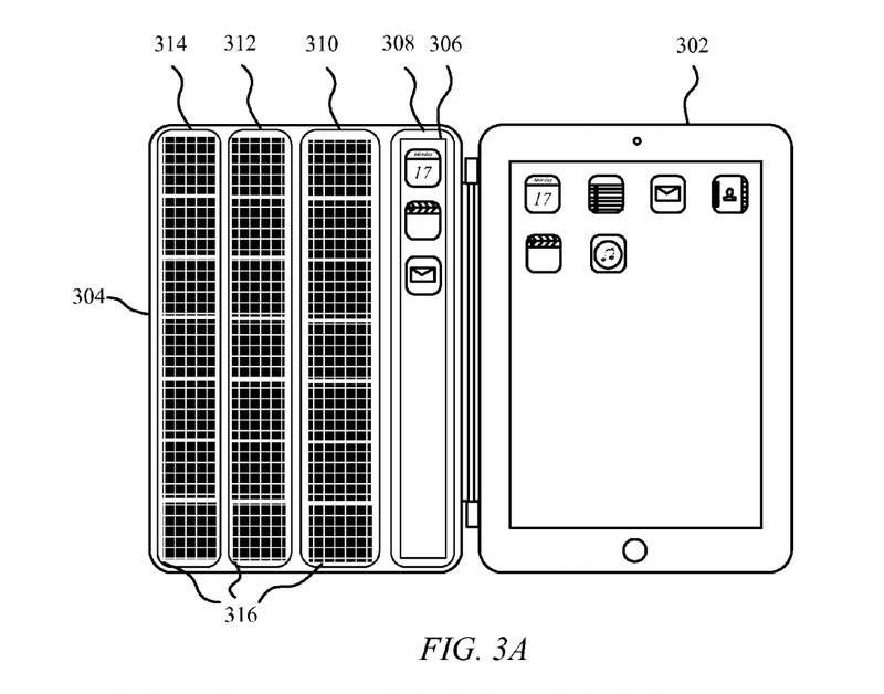 Apple cover patent solar