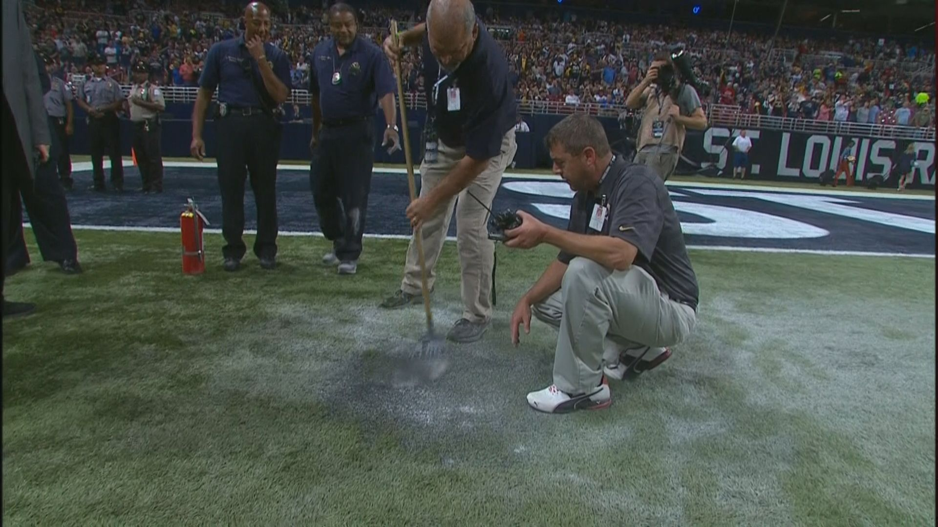 The Rams Just Set Their Own Field On Fire By Accident Sbnation Com