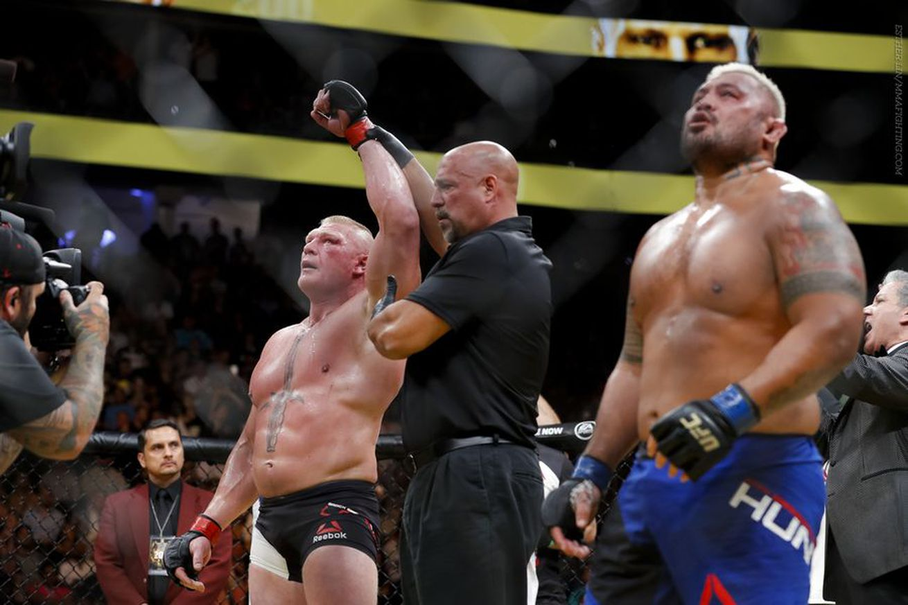 Mark Hunt asks for half of Brock Lesnars purse or to be released from the UFC