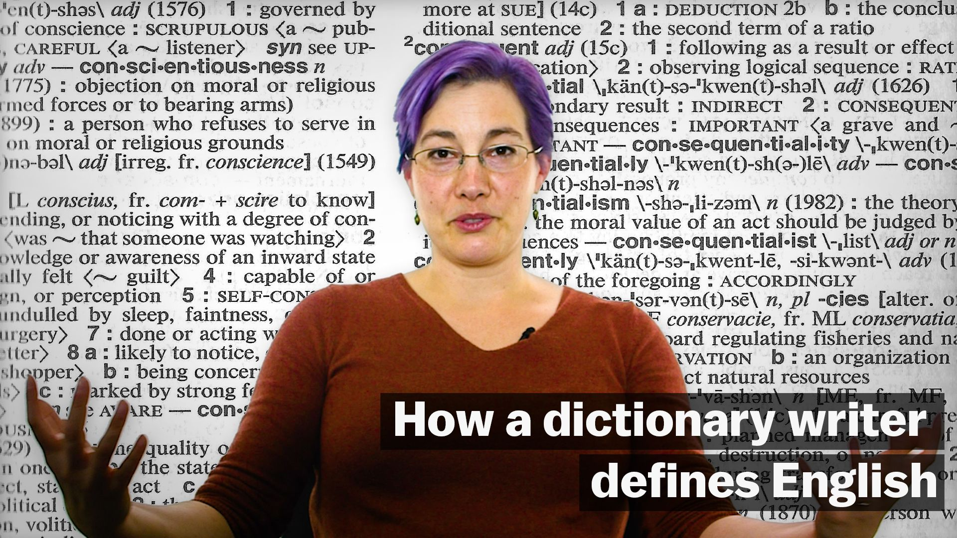 Watch how a dictionary writer defines English - Vox