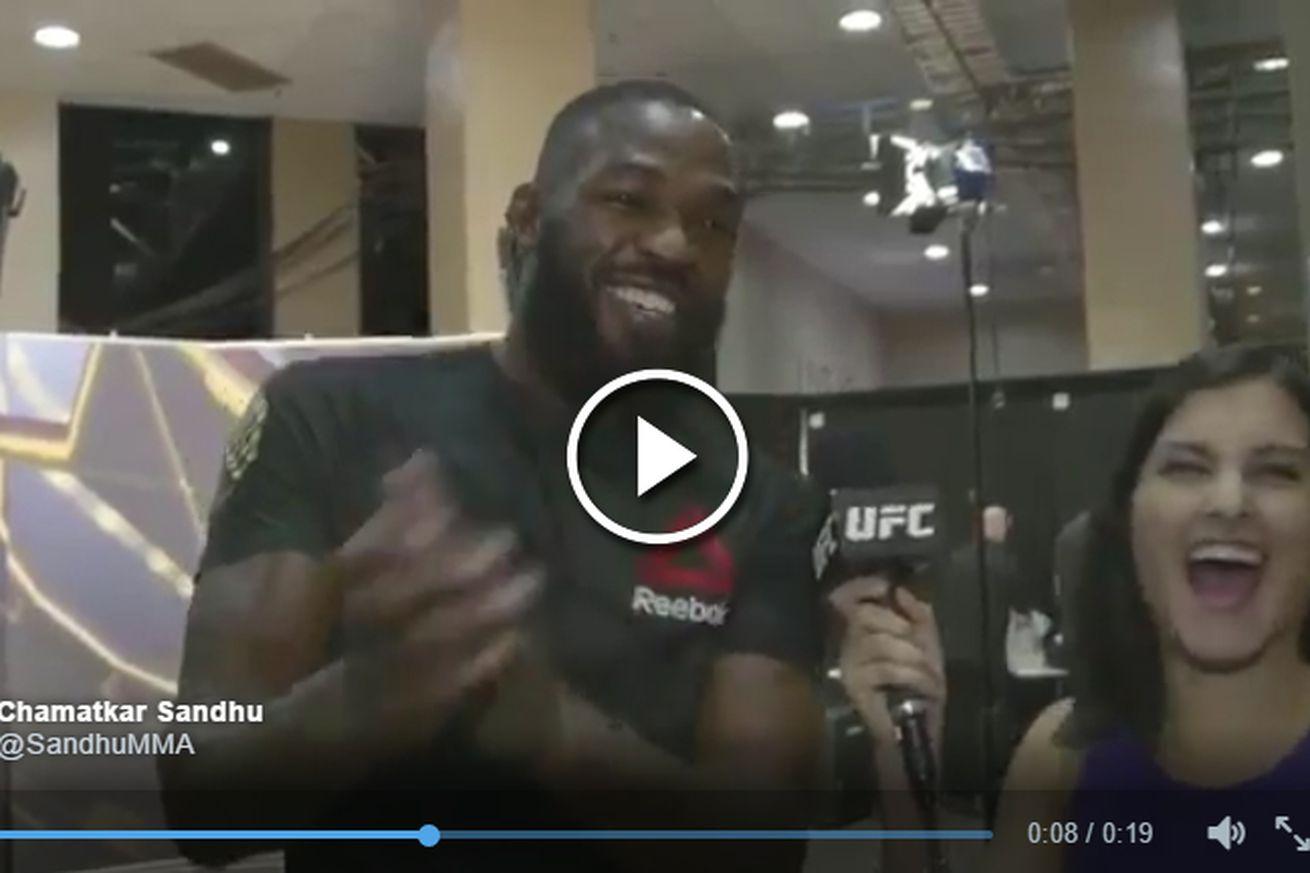 community news, Video: Jon Jones dances, celebrates news that Ovince Saint Preux broke his arm at UFC 197