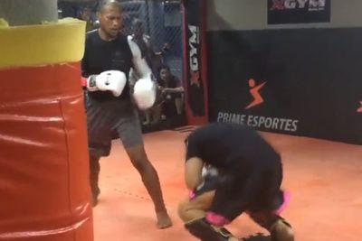 community news, Watch 'Jacare' Souza floor training partners with body shots ahead of UFC 194 fight with Yoel Romero