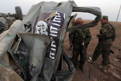 Destroyed ISIS car