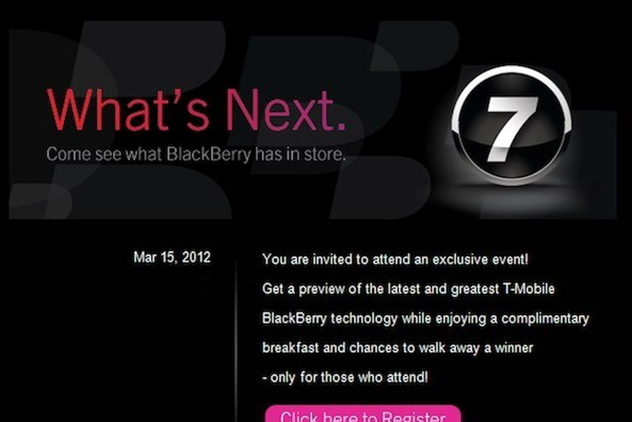 T-Mobile to show off 'latest and greatest' BlackBerry 7 ...