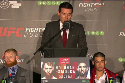 Watch UFC Dublin post fight press conference full video replay