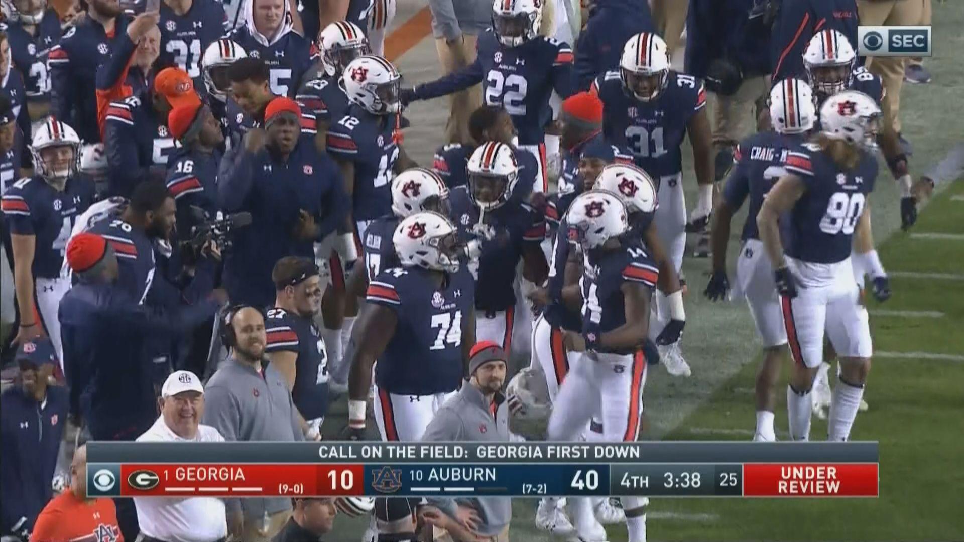 Georgia Vs Auburn 2017 Final Score Tigers Crush 1 Dawgs