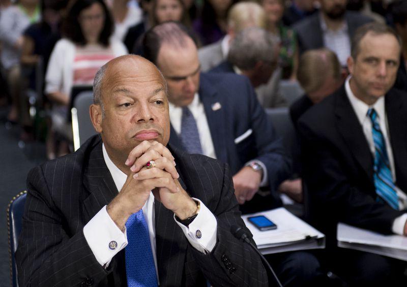 Jeh Johnson testifying
