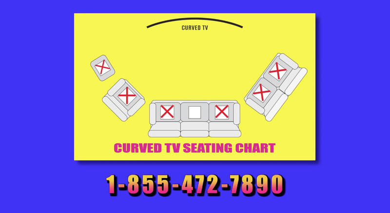 Curved TV seating chart