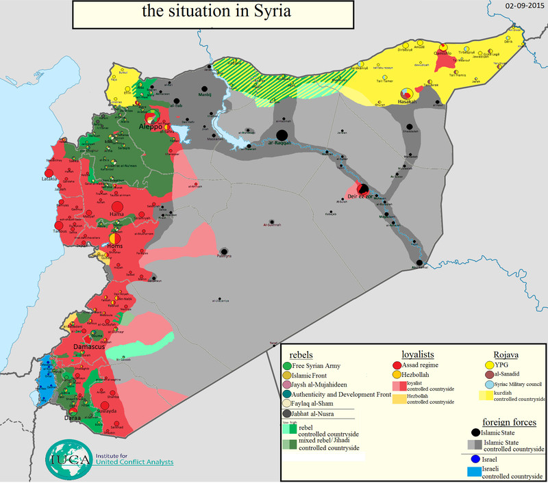 syria is divided into different fiefdoms