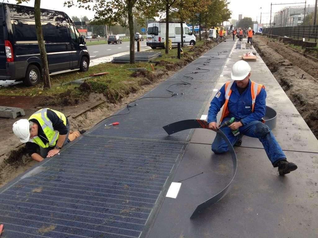 The Netherlands Built A Bike Path Entirely Out Of Solar