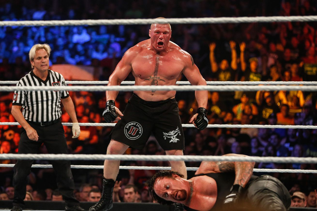 Brock Lesnar responds to steroid accusations: Im a jacked white boy, deal with it