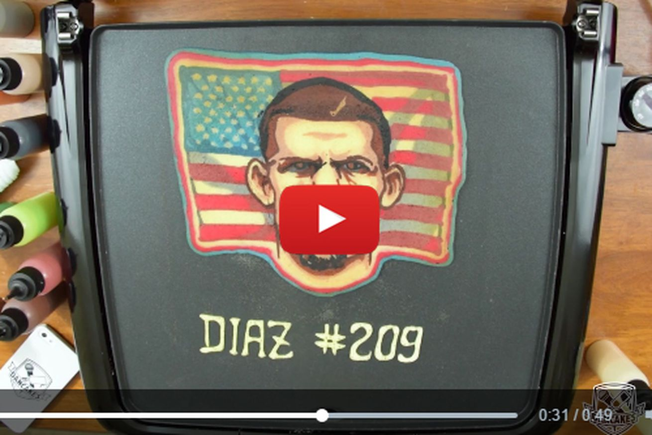 community news, Video: World famous food artist makes Conor McGregor, Nate Diaz pancake portraits
