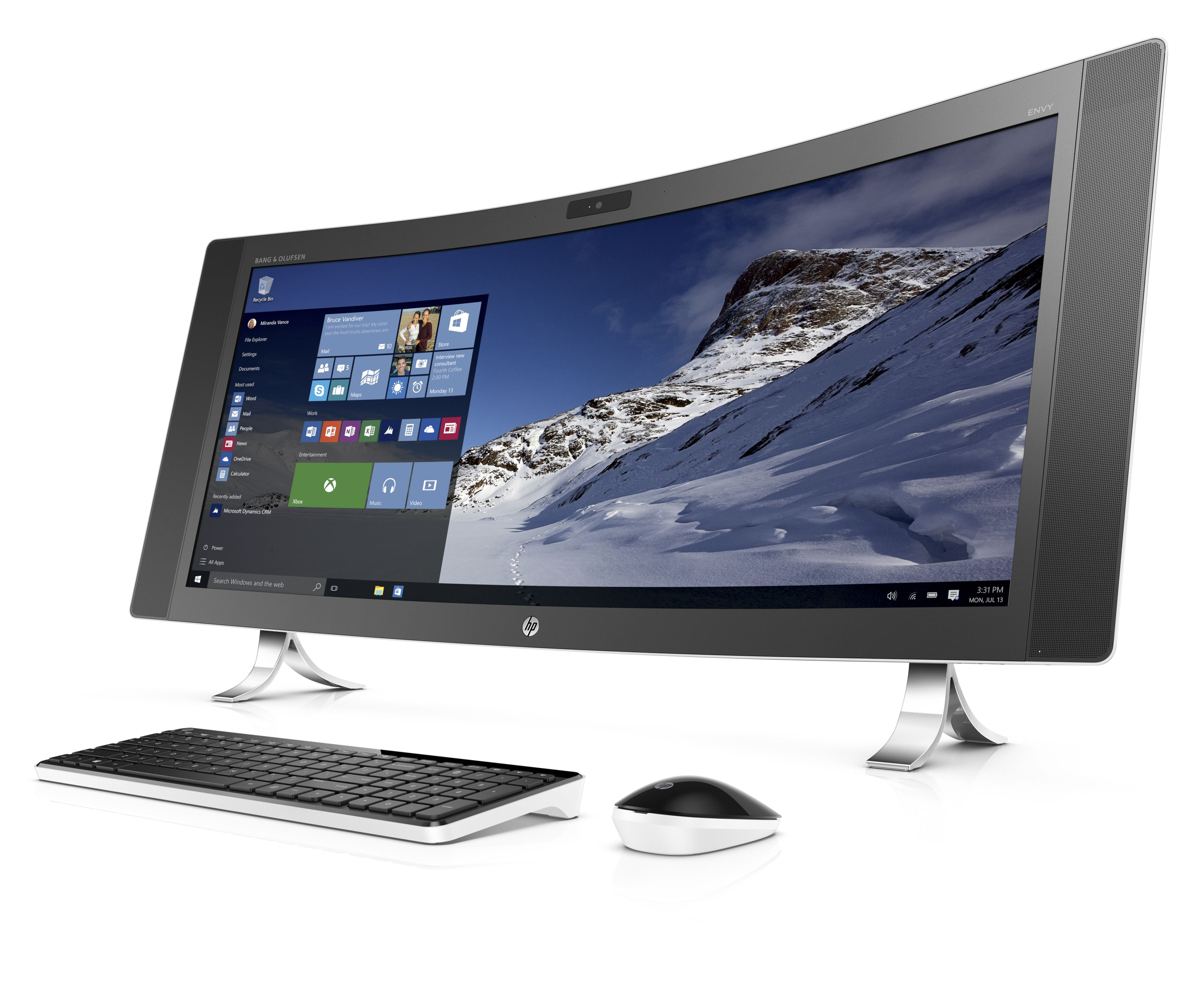 Hp s new all in one pc is curved and ultra wide the verge for Ecran pc wide