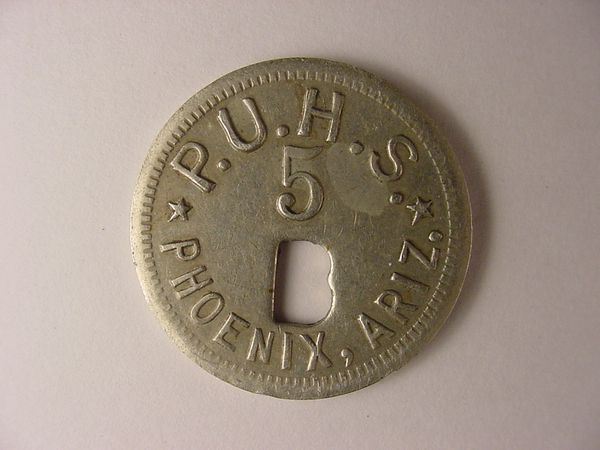 five cent token