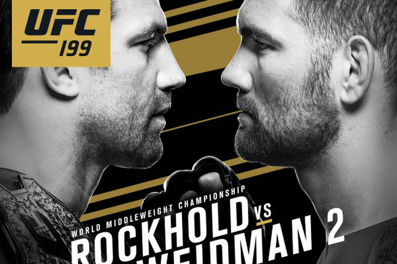 community news, Pic: UFC 199 poster first look for Rockhold vs Weidman 2 on June 4 in Los Angeles
