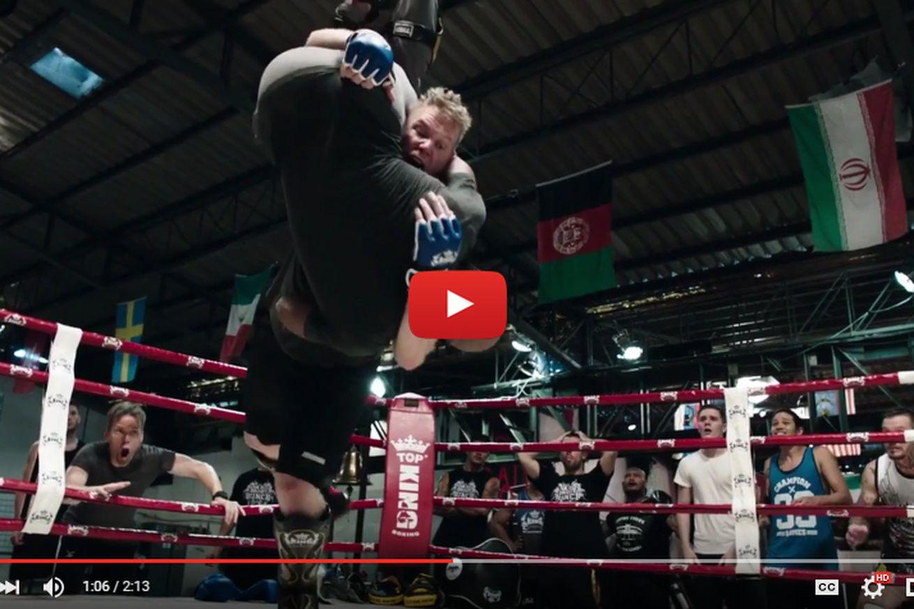 community news, Video: Josh Barnett acts, body slams fighters in latest Never Back Down movie